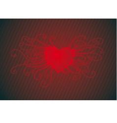 swirl heart vector image