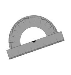 Transporter ruler for drawing icon vector