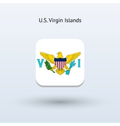 Us virgin islands flag icon vector
