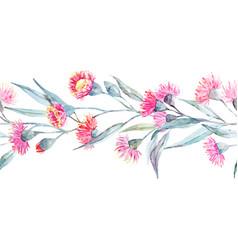 watercolor eucalyptus stripe vector image vector image