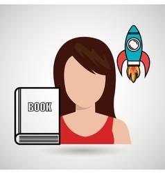 Woman book idea icon vector
