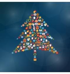 Christmas Tree Shape vector image