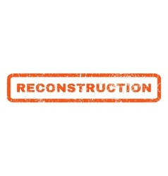 Reconstruction rubber stamp vector