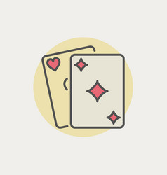 Colorful playing cards icon vector