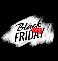 White paint stroke effect with black friday sale vector