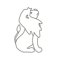 Lion silhouette vector