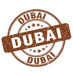 Dubai brown grunge round vintage rubber stamp vector