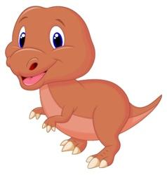 Cute baby dinosaur cartoon vector image