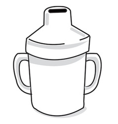 Sipper cup vector