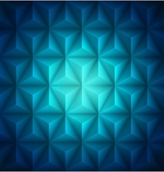 Blue geometric abstract low-poly paper background vector