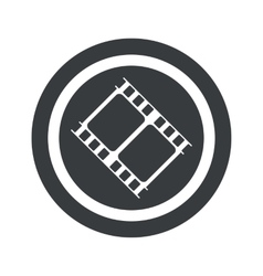 Round black movie sign vector