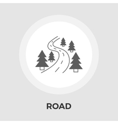 Road flat icon vector