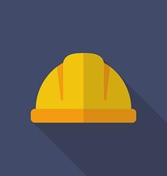 Construction helmet flat icon vector