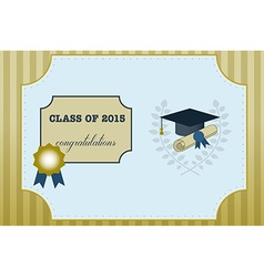 Gold graduation vintage certificate vector