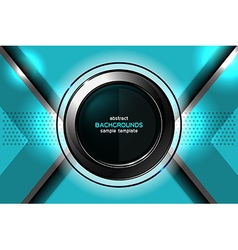 Abstract blue background technology vector