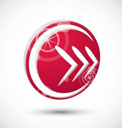Arrow icon abstract icon 3d symbol vector image vector image