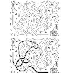 Autumn maze vector