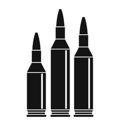Bullet ammunition icon simple style vector