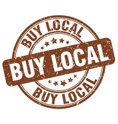 Buy local brown grunge round vintage rubber stamp vector