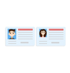 Car driver license woman and man set vector