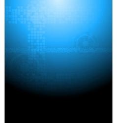 Dark blue tech background vector