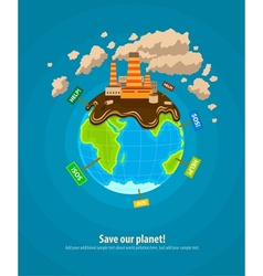 Ecology concept world planet vector image vector image