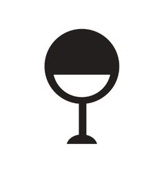 Flat icon in black and white style designer chair vector