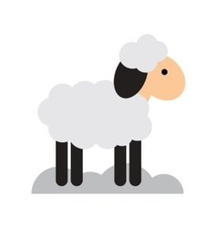 Flat icon with long shadow christmas lamb vector