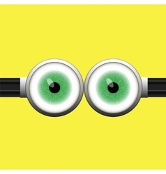 Goggle with two green eyes vector
