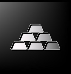 Gold simple sign gray 3d printed icon on vector