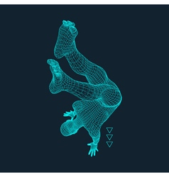 Gymnast Man 3D Model of Man Human Body Model vector image vector image