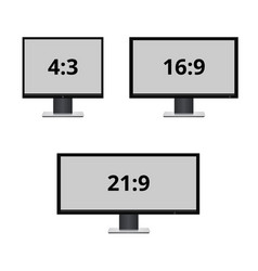 icon monitor sizes vector image