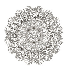 Mandala pattern zentangl doodle drawing round vector