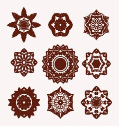 Mehndi flowers tattoo doodle henna tattoo design vector