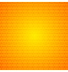 Orange abstract hexagonal texture background vector
