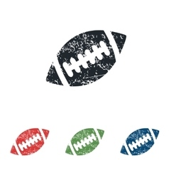Rugby ball grunge icon set vector