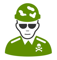 Swat soldier icon vector