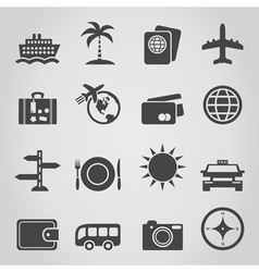 Travel an icon vector image vector image