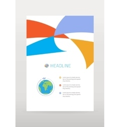 Travel flyer with airplane vector image