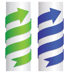 Arrow pillar vector