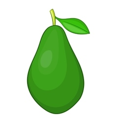 Avocado icon cartoon style vector