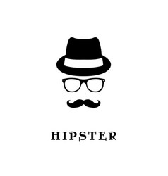 fashion silhouette hipster vector image