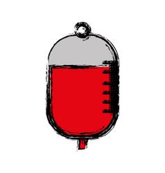 Blood bag icon vector