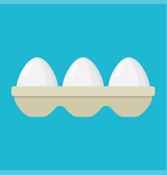 Eggs in a tray vector
