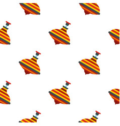 Colorful spinning top pattern seamless vector
