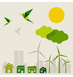Ecology a city vector