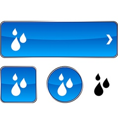 Rain button set vector