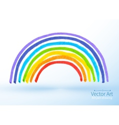Childlike drawing of rainbow vector