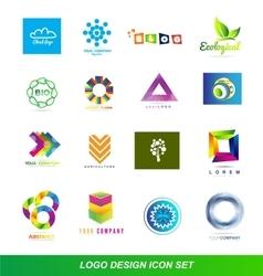 Logo design elements icon set vector