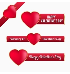 Valentine banners with heart vector